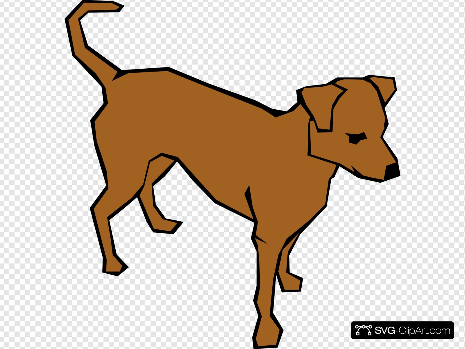 Alert Dog In Color Clip art, Icon and SVG.