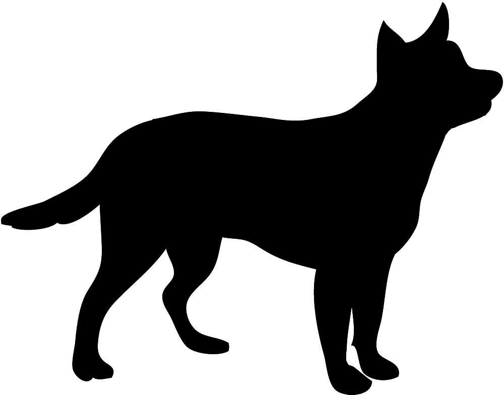 Dog Clipart Silhouette.