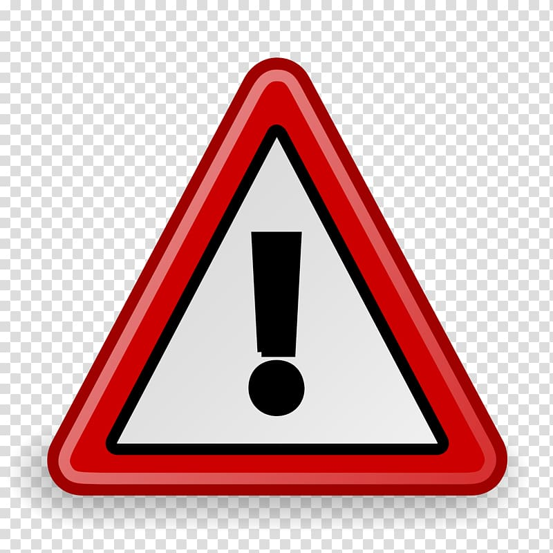 Warning sign , attention transparent background PNG clipart.