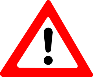Collection of Warning sign clipart.