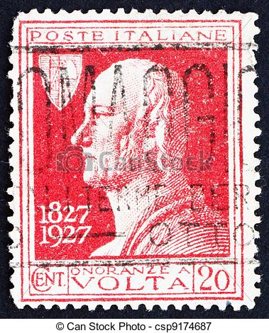 Picture of Postage stamp Italy 1927 Count Alessandro Volta.