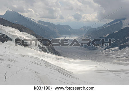 Picture of The Aletsch Glacier k0371907.