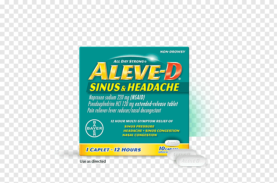 Naproxen Sinus infection Headache Nasal congestion.