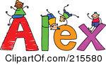 Alex clipart.