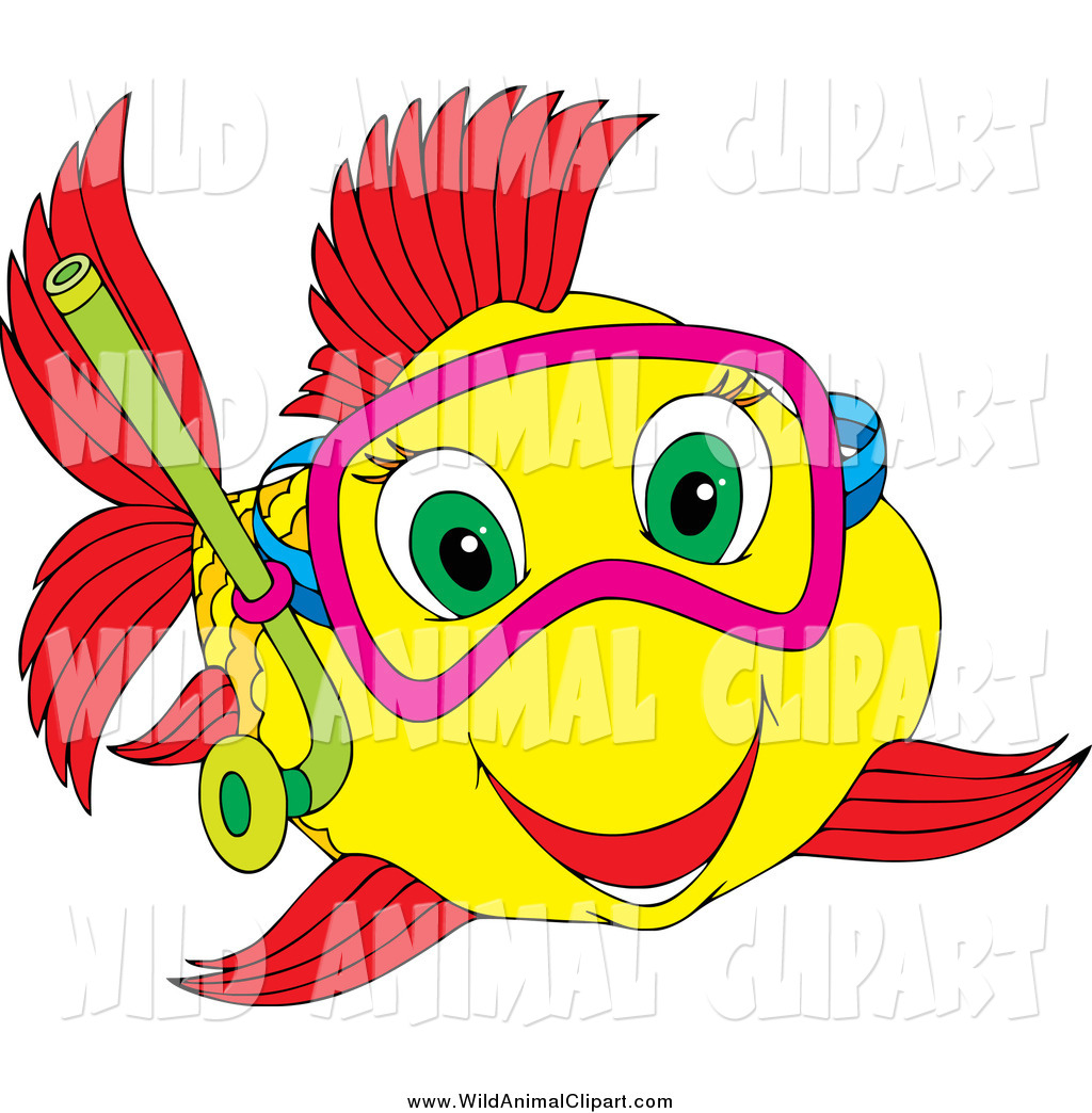 Clip Art Happy Fish Clipart.