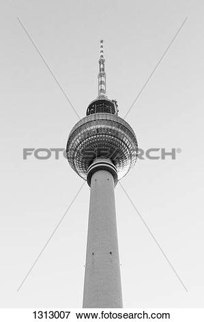 Picture of Low angle view, Alexanderplatz Television Tower, Berlin.