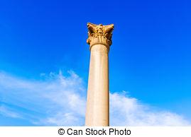 Stock Photographs of sphinx of Pompey's Pillar area in Alexandria.