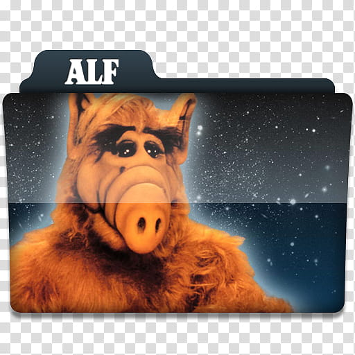 Windows TV Series Folders A B, Alf folder icon transparent.