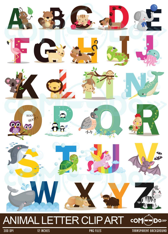 Animal Alphabet Clipart.