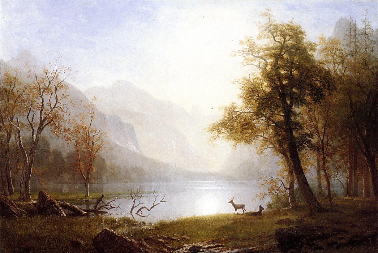 Images : Albert Bierstadt.