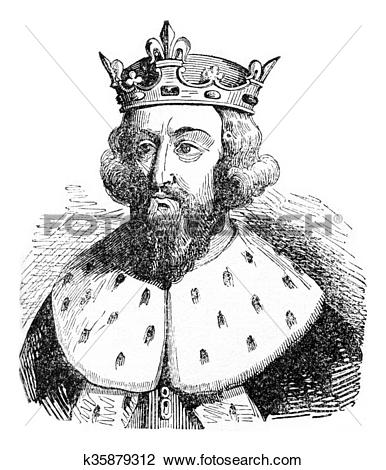 Clip Art of Alfred the Great, vintage engraving. k35879312.