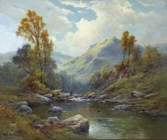 "Springtime, The Brook Sowlersky Lines"" By Alfred de Breanski, Jr."