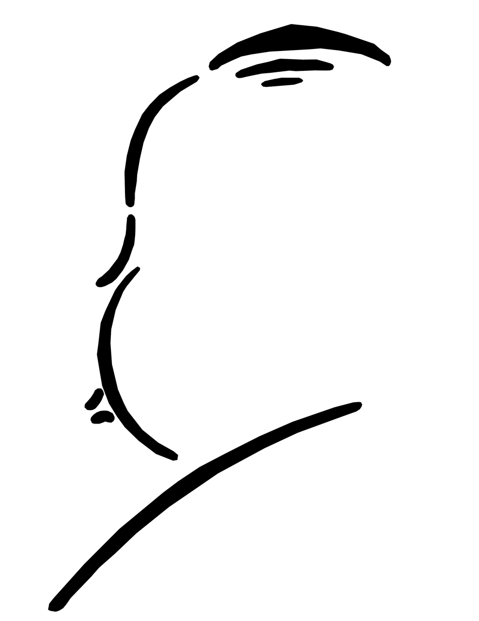 Alfred hitchcock clipart.