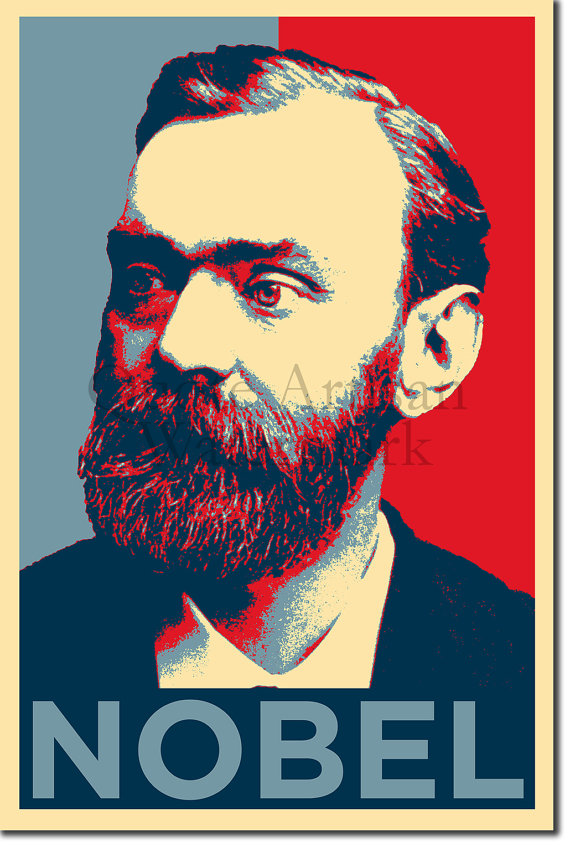 Alfred Nobel Original Art Print 12x8 Inch Photo Poster Gift by.