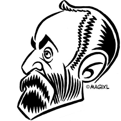 caricature clipart historical celebrities.