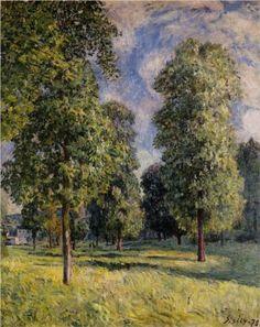 Walnut Tree in a Thomery Field Artist: Alfred Sisley Completion.