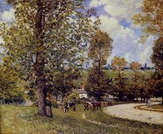 View of Moret Artist: Alfred Sisley Completion Date: 1880 Style.
