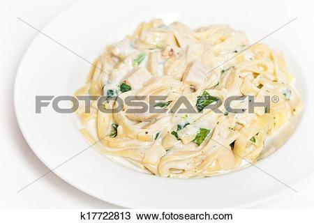 Stock Photo of Chicken fettuccine alfredo k17722813.