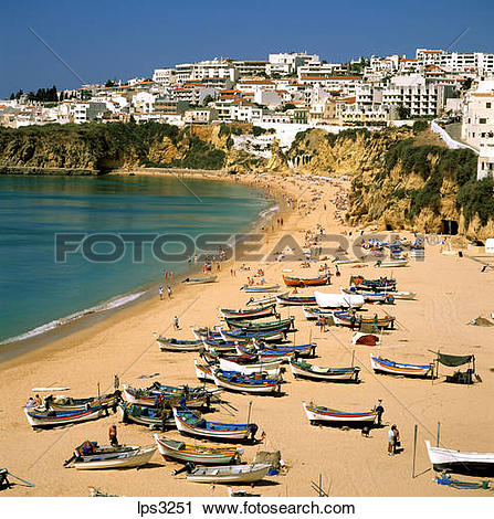 Stock Photography of 27 Portugal Algarve Albufeira Beach With.