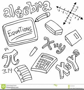 Algebra Equations Clipart.