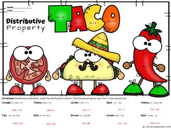 BUNDLE Mexican Food themed math worksheets.