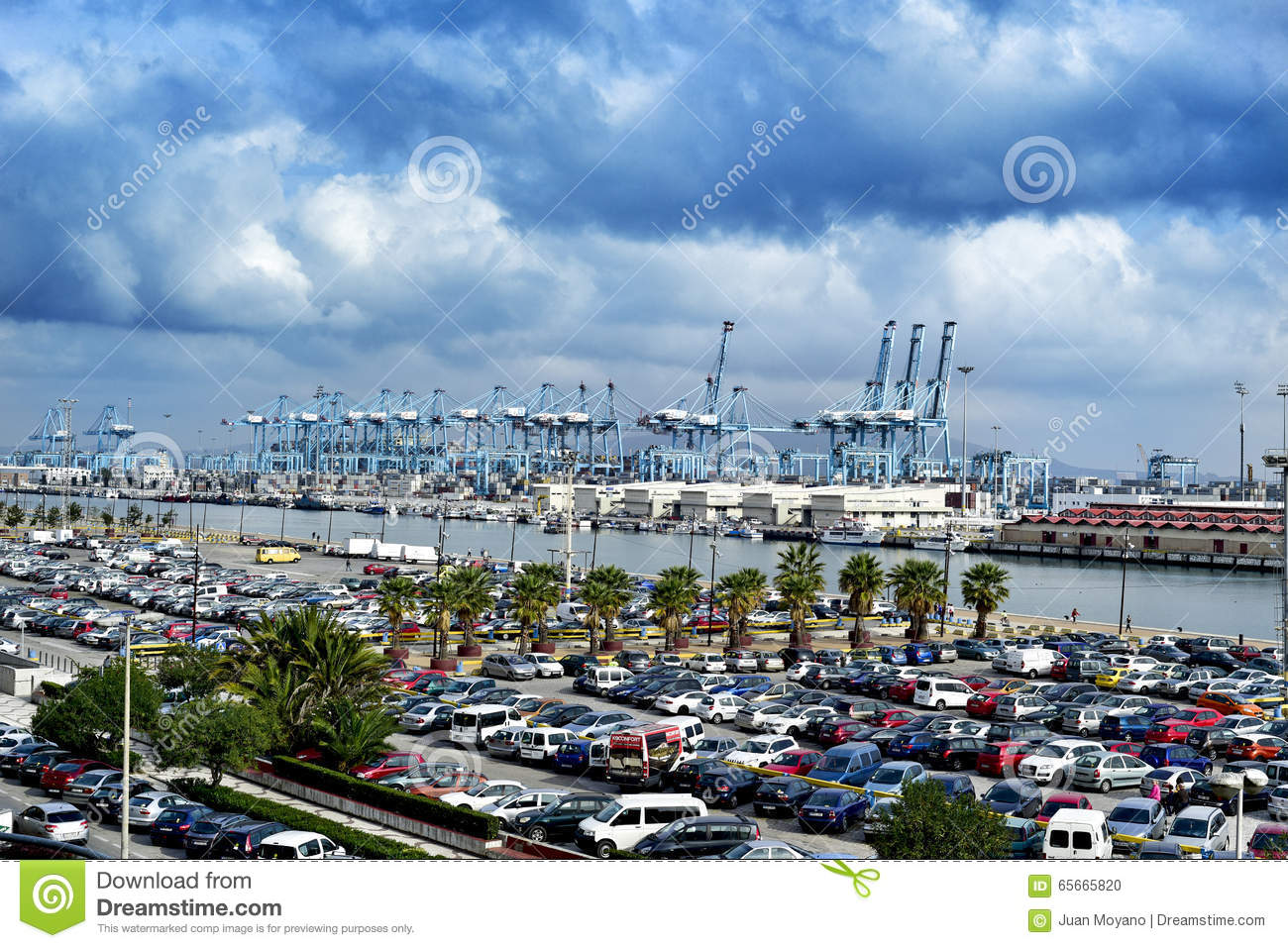 Panoramic View Of The Port Of Algeciras, Spain Editorial Image.