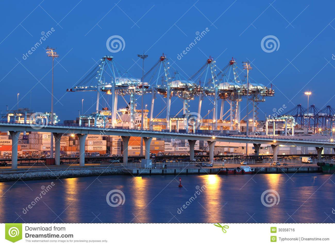 Container Port In Algeciras, Spain Editorial Photo.