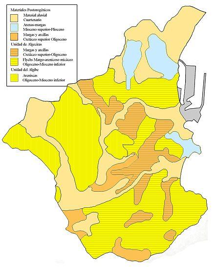 Geografía física de Algeciras.