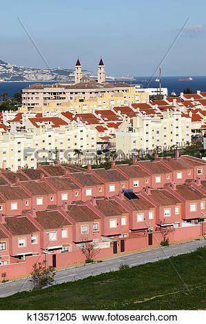 Stock Image of Urbanization in Algeciras. Province of Cadiz.