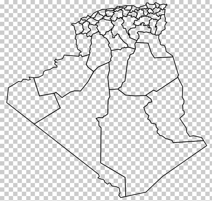 Algeria Blank map Wikipedia, map PNG clipart.