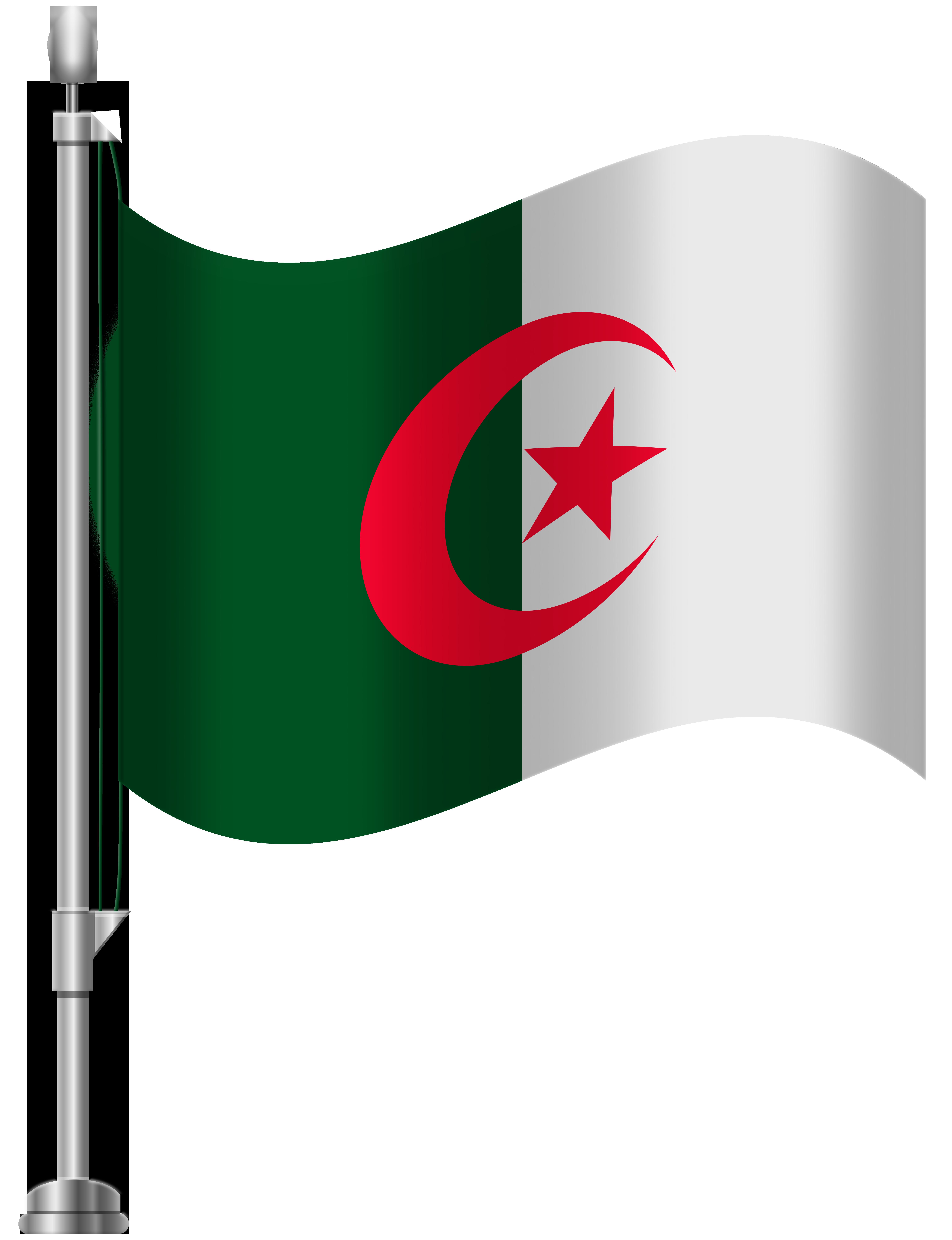 Algeria Flag PNG Clip Art.