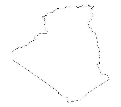 Algeria map clipart.