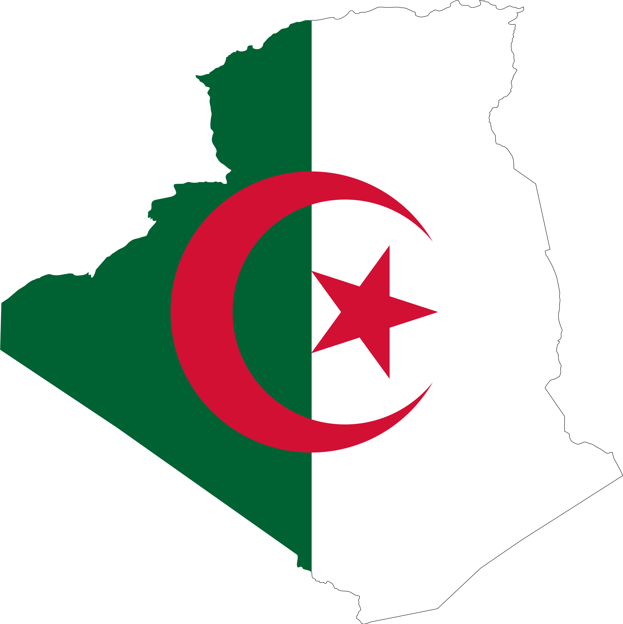 Algeria flag clipart.