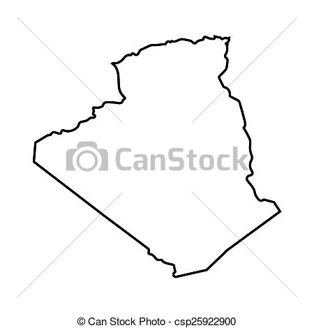 abstract outline of Algeria map.