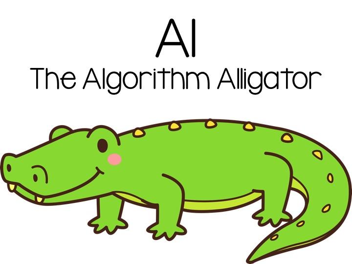 Celebrating CS Week: Meet Al the Algorithm Alligator.