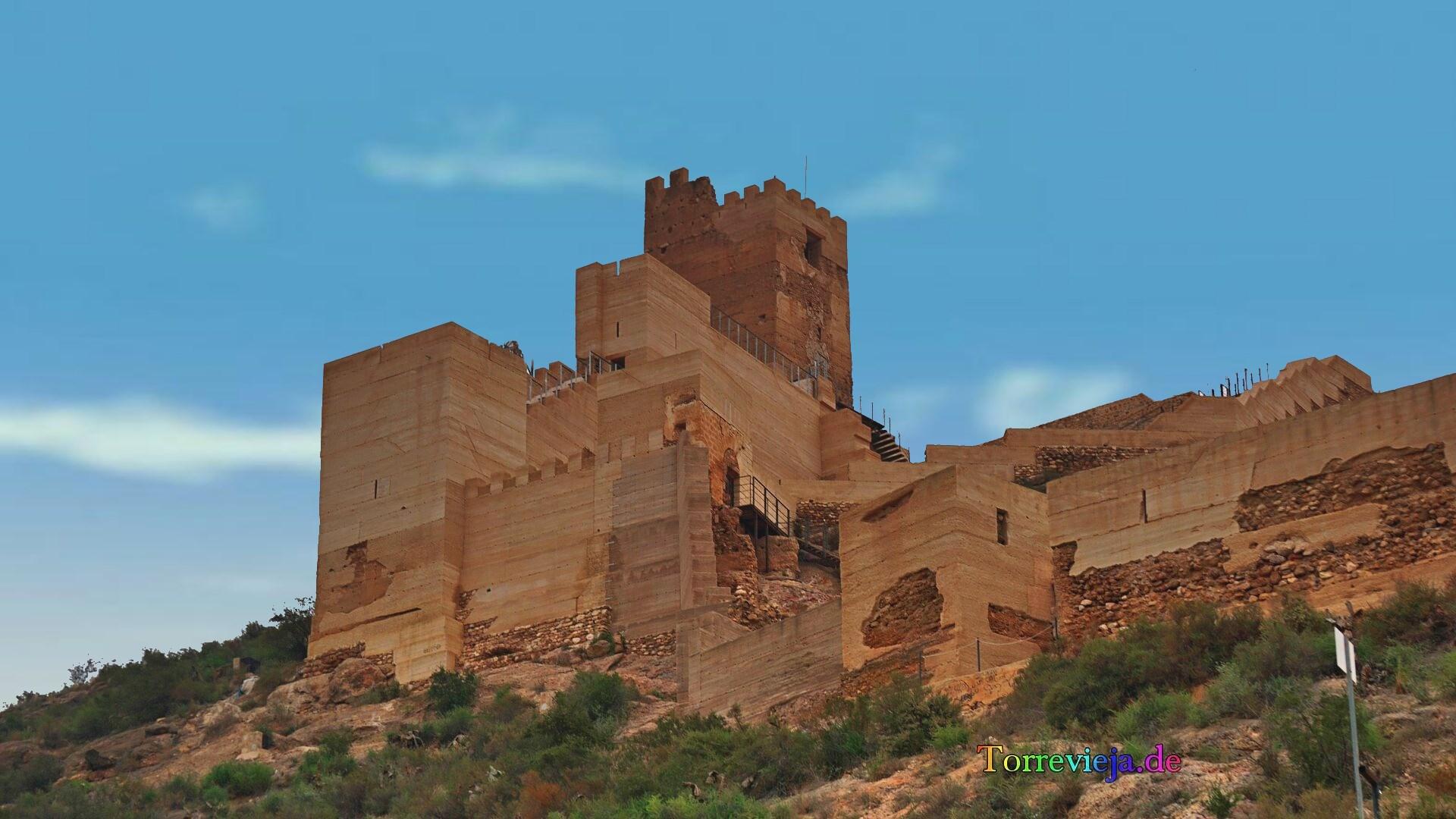 """Photo Gallery of the Castle """"Castillo de Alhama"""" in Murcia."""