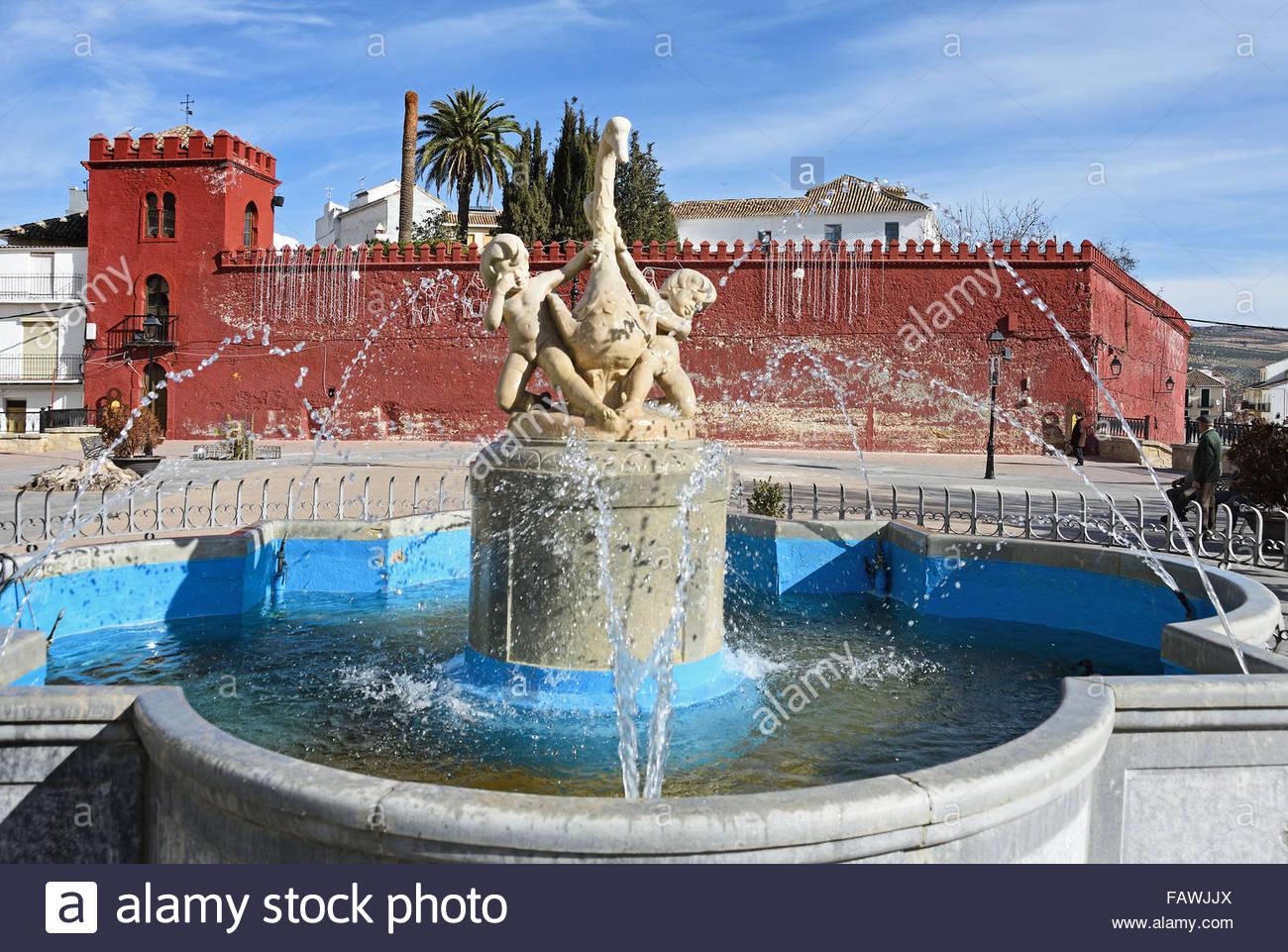Moorish Red Castle Walls In Plaza De La Constitucion Alhama De.