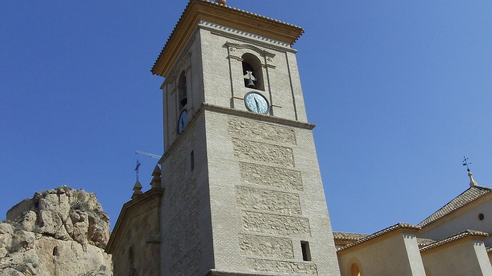 Free photo De Murcia Spain Church Bell Tower Castle Alhama.