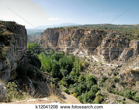 Pictures of Canyon of Alhama de Granada, southern Spain k12041208.