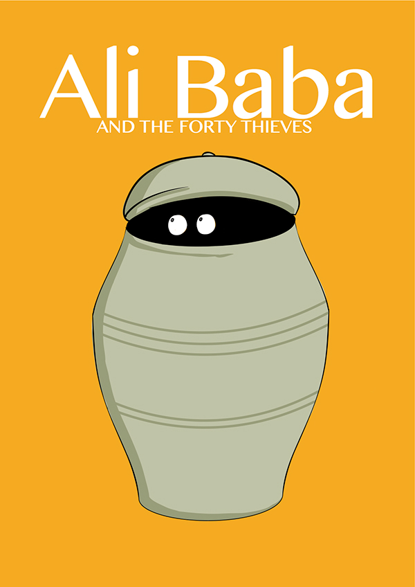 Ali Baba and the Forty Thieves on Behance.