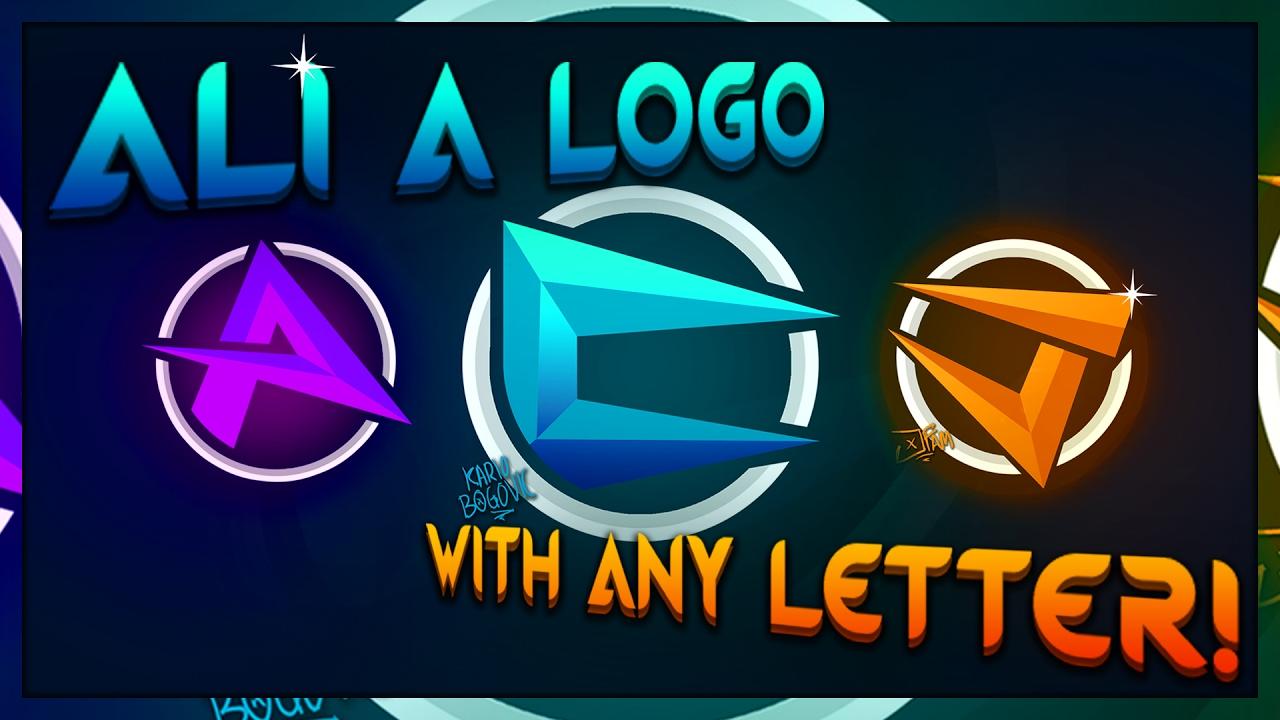 How to make a logo like Ali.