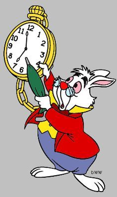 The White Rabbit Clipart from Disney\'s Alice in Wonderland.