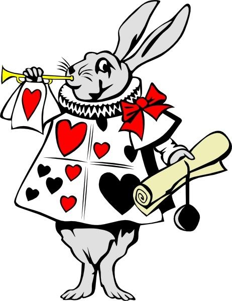 Rabbit From Alice In Wonderland clip art Free vector in Open.