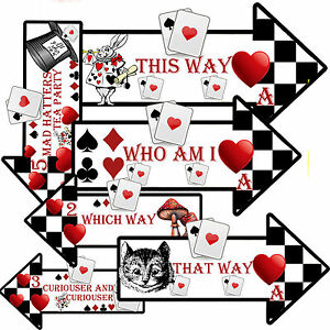 Details about 12 ALICE IN WONDERLAND Arrows/ Party Decoration/ Mad Hatters  tea party.
