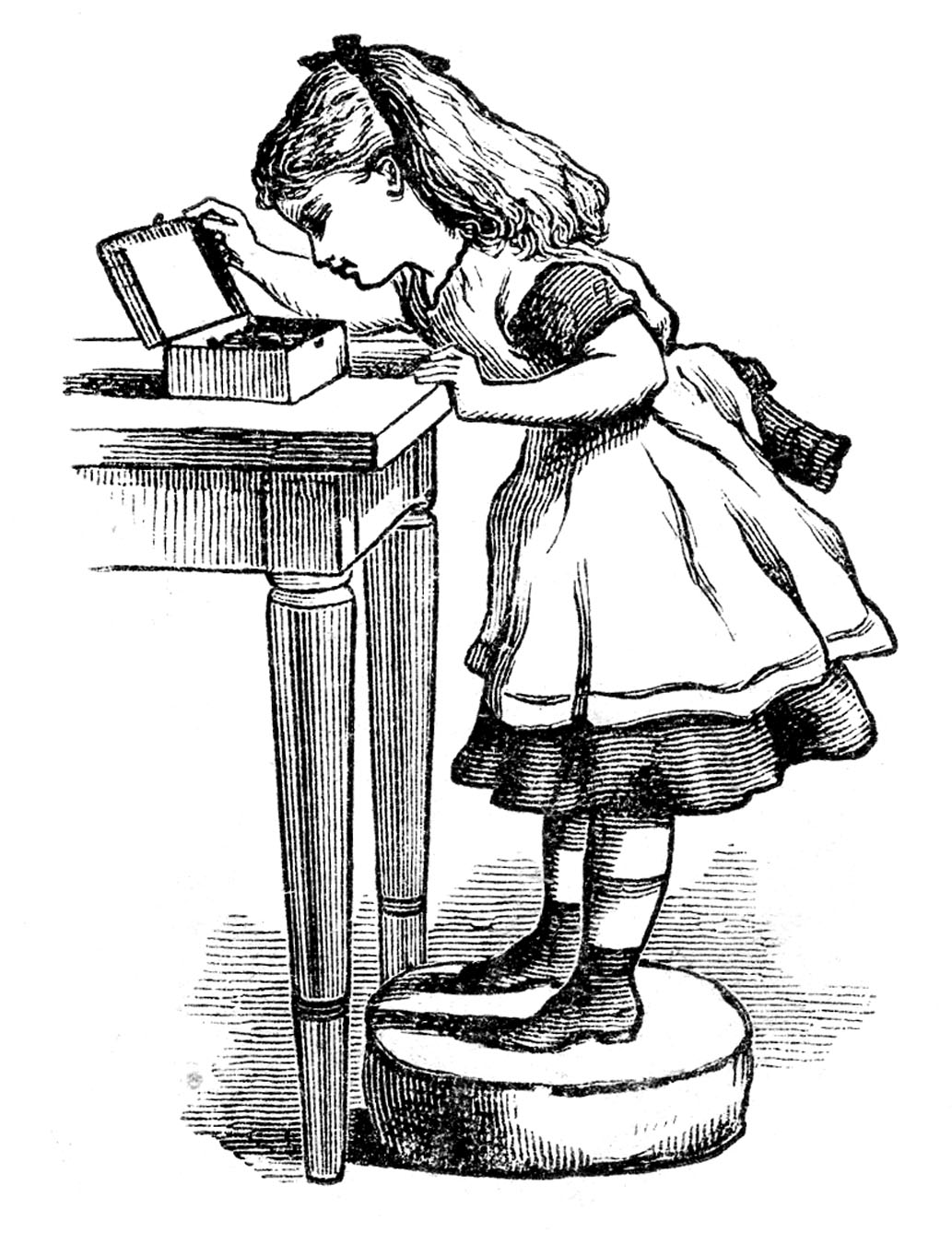 Alice in wonderland black and white clipart 1 » Clipart Station.