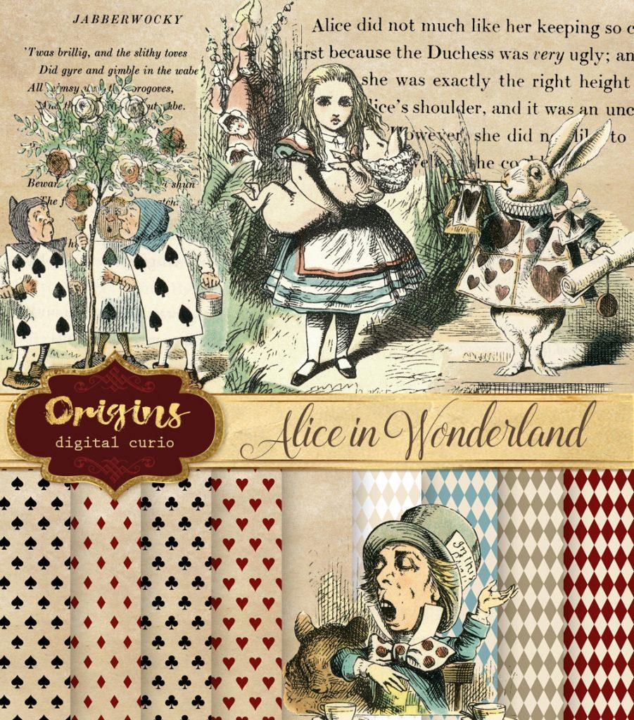 Alice in Wonderland Clipart.