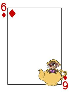 Alice In Wonderland Cards Clipart.