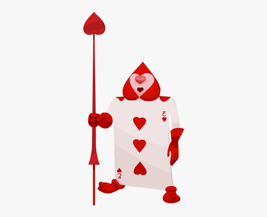Playing Card Alice Wonderland.