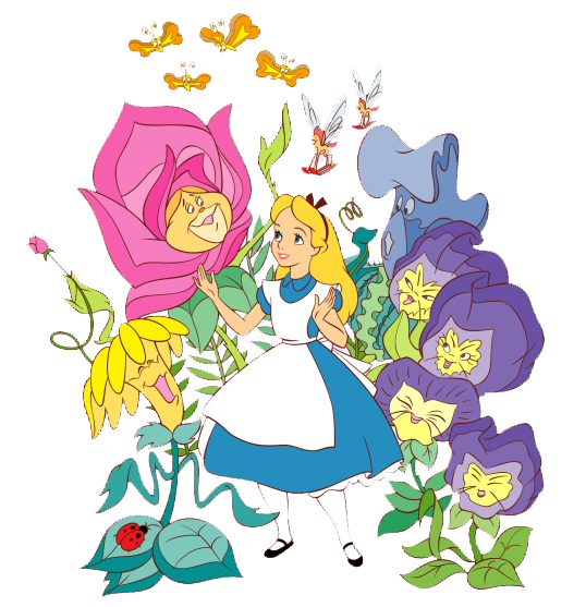 Alice In Wonderland Characters Disney Clipart.