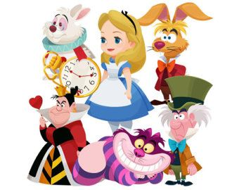 Alice in wonderland clipart commercial use, alice wonderland.